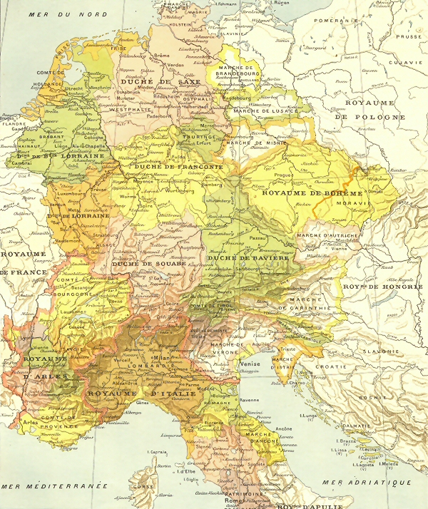 Carte su Saint Empire Romain Germanique