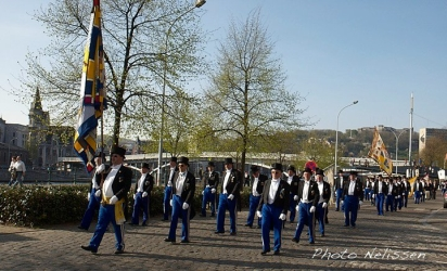 Les officiers des Arbalétriers de Visé © Photo Neelissen